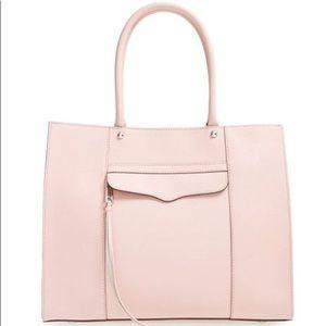 Rebecca Minkoff Medium Mab leather tote pale pink
